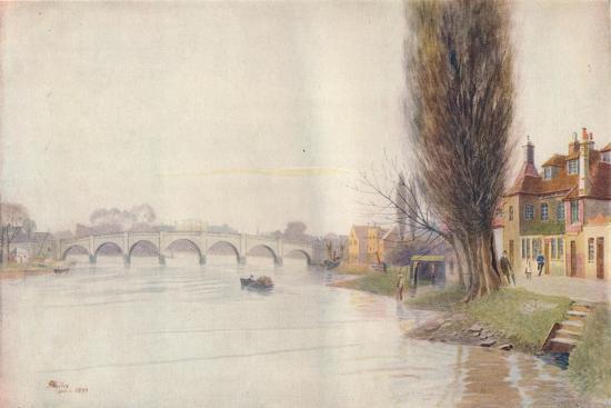 'Old Kew Bridge', 1899, (1914)-James S Ogilvy-Giclee Print