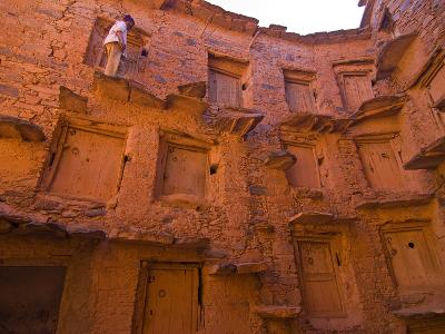 Old Ksar (Collective Granaries) in the Southern Part of Morocco Near Tafraoute, Morocco--Photographic Print