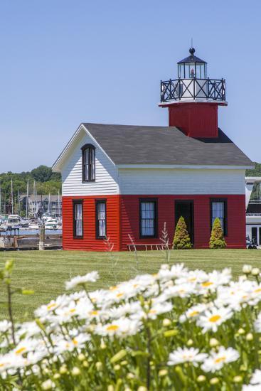Old Lighthouse, on Lake Kalamazoo, Saugatuck, West Michigan, USA-Randa Bishop-Photographic Print