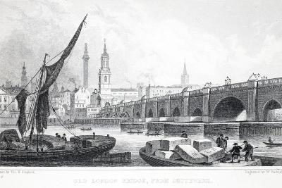 Old London Bridge-Thomas Hosmer Shepherd-Giclee Print