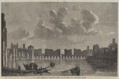 Old London Bridge-Claude de Jongh-Giclee Print
