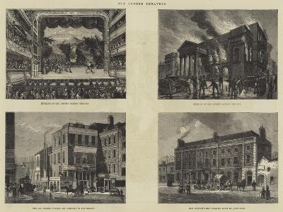 Old London Theatres--Giclee Print