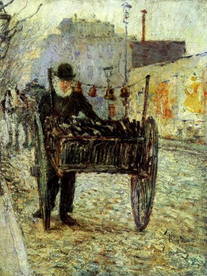 Old Man Carrying Bottles, 1892-Childe Hassam-Giclee Print