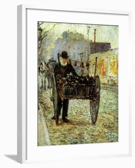 Old Man Carrying Bottles, 1892-Childe Hassam-Framed Giclee Print