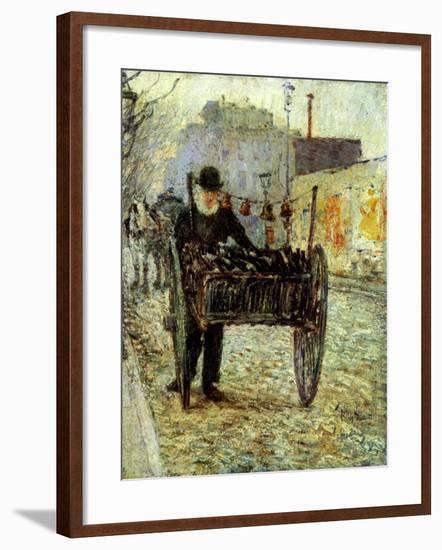 Old Man Carrying Bottles, 1892-Childe Hassam-Framed Giclee Print