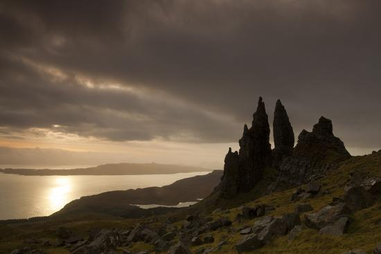 Old Man of Storr at Dawn, Skye, Inner Hebrides, Scotland, UK, January 2011-Peter Cairns-Photographic Print