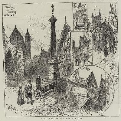 Old Manchester and Salford-Herbert Railton-Giclee Print