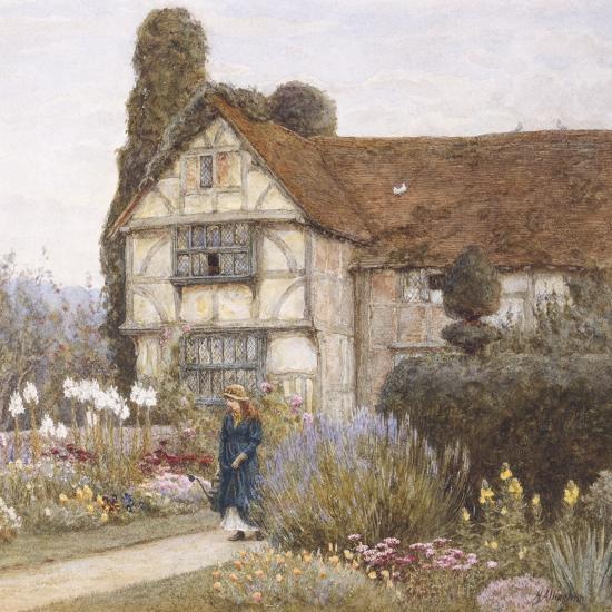 Old Manor House-Helen Allingham-Premium Giclee Print
