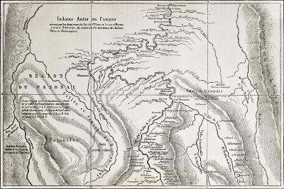 Old Map Of Campa Indians (Ashaninka) Territory, Peru-marzolino-Art Print