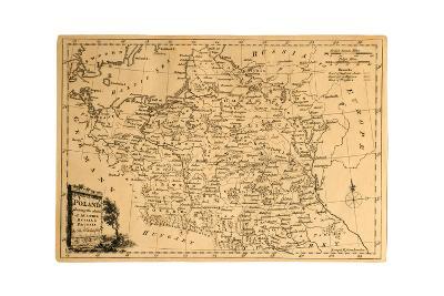 Old Map Of Poland-Tektite-Art Print