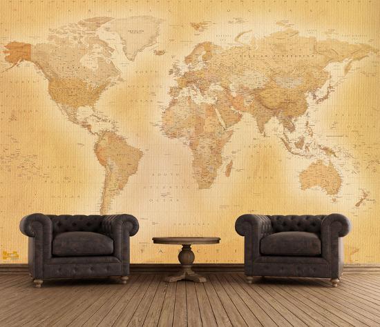 Old Map Wallpaper Mural Wallpaper Mural By Art Com