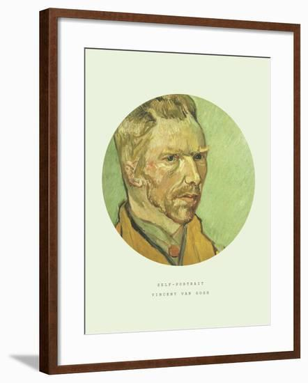 Old Masters, New Circles: Self Portrait-Vincent van Gogh-Framed Giclee Print