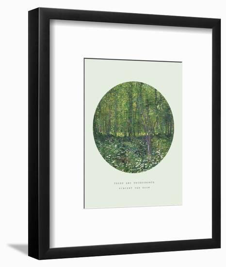 Old Masters, New Circles: Trees and Undergrowth, c.1887-Vincent van Gogh-Framed Giclee Print