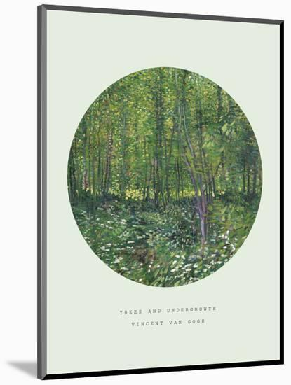 Old Masters, New Circles: Trees and Undergrowth, c.1887-Vincent van Gogh-Mounted Giclee Print