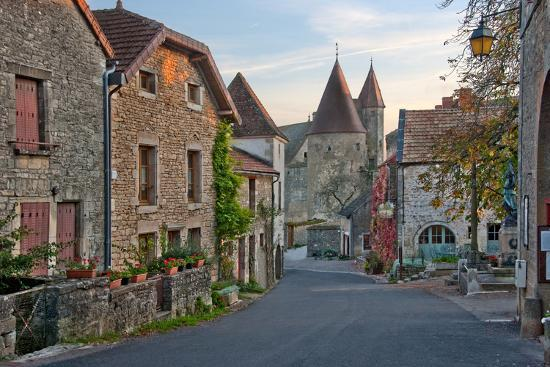 Old Medieval Looking European Street-vitalytitov-Photographic Print