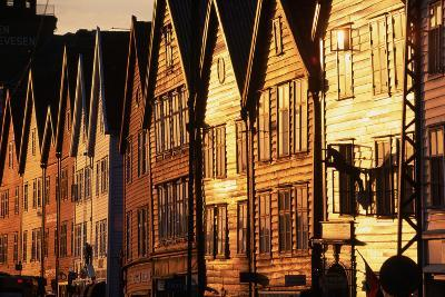 Old Merchant Houses at Sunset-Paul Souders-Photographic Print