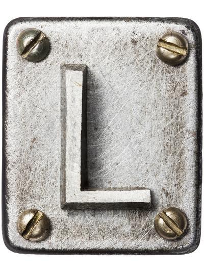 Old Metal Alphabet Letter L-donatas1205-Art Print