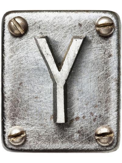 Old Metal Alphabet Letter Y-donatas1205-Art Print