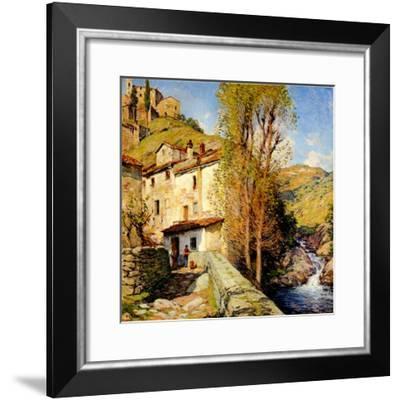 Old Mill at Pelago, Italy, 1913-Willard Leroy Metcalf-Framed Giclee Print