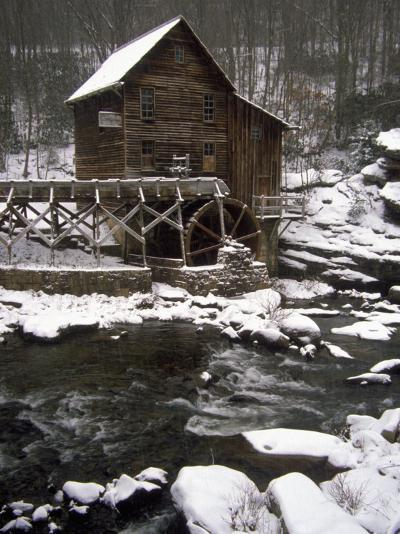 Old Mill, Babcock State Park, West Virginia-Charles Benes-Photographic Print