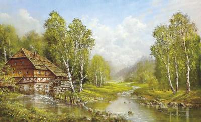 Old Mill Cottage-Helmut Glassl-Art Print