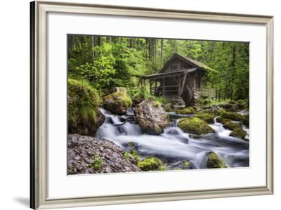 Old Mill in Golling, Salzburg, Austria-Dieter Meyrl-Framed Photographic Print