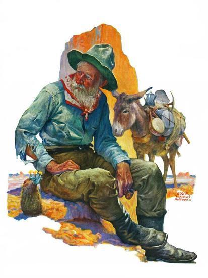 """Old Miner,""April 6, 1929-Edgar Franklin Wittmack-Giclee Print"