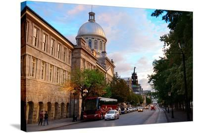 Old Montreal Street View--Stretched Canvas Print
