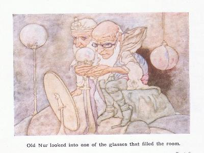 Old Nur Looked into One of the Glasses-Charles Robinson-Giclee Print