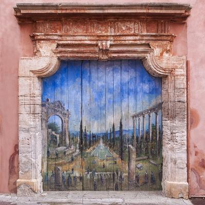 Old Painted Door-Michael Blanchette-Photographic Print