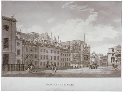 Old Palace Yard, Westminster, London, 1793-Thomas Malton II-Giclee Print