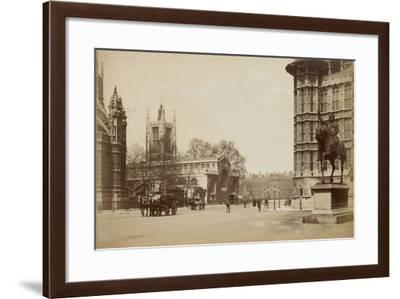 Old Palace Yard, Westminster, London, C.1855--Framed Photographic Print