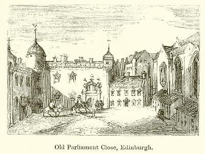 Old Parliament Close, Edinburgh--Giclee Print