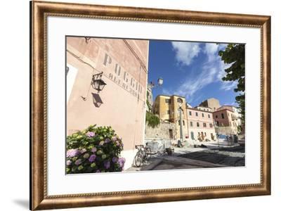 Old part of the village of Poggio, Marciana, Elba Island, Livorno Province, Tuscany, Italy, Europe-Roberto Moiola-Framed Photographic Print