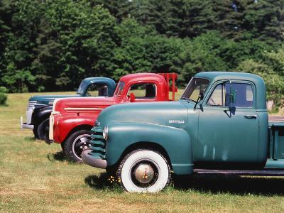 Old Pick-Up Trucks, USA-Walter Bibikow-Photographic Print