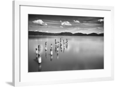 Old Pier B&W-Marco Carmassi-Framed Photographic Print