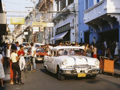 Old Pontiac, an American Car Kept Working Since Before the Revolution, Santiago De Cuba, Cuba-Tony Waltham-Photographic Print