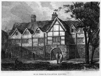 Old Porch, Charterhouse, London, 1815- Owen-Giclee Print