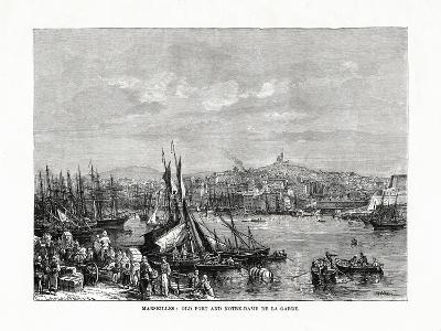 Old Port and Notre Dame De La Garde, Marseilles, France, 1879--Giclee Print