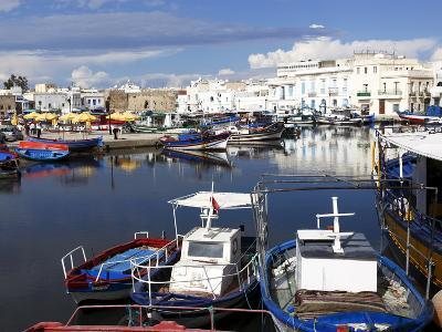 Old Port Canal and Fishing Boats, Bizerte, Tunisia, North Africa, Africa-Dallas & John Heaton-Photographic Print