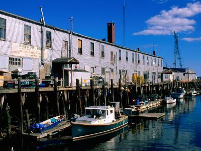 Old Port Exchange Area, Fishing Docks, Portland, Maine-John Elk III-Photographic Print