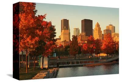 Old Port Montreal Fall Season--Stretched Canvas Print