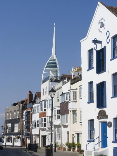 Old Portsmouth with the Spinnaker Tower Behind, Portsmouth, Hampshire, England, UK, Europe-Ethel Davies-Photographic Print