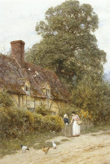 Old Post Office, Brook, Near Witley-Helen Allingham-Giclee Print