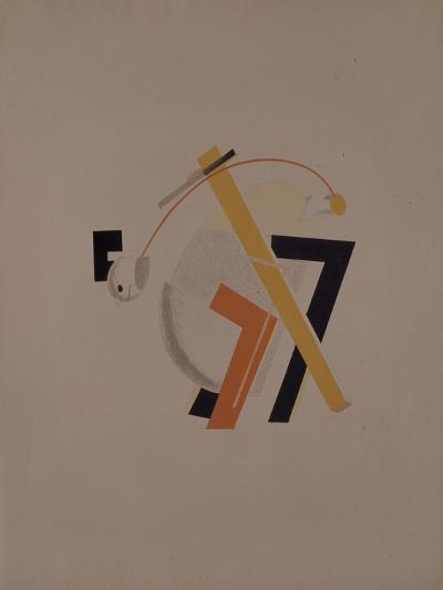 Old Resident. Figurine for the Opera Victory over the Sun by A. Kruchenykh, 1920-1921-El Lissitzky-Giclee Print