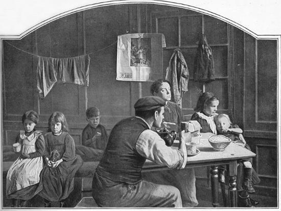 Old room in Slumland, London, c1900 (1901)-Unknown-Photographic Print