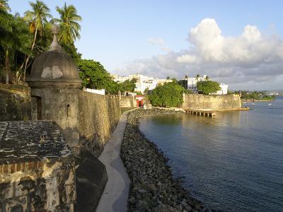 Old San Juan City Walls-George Oze-Photographic Print