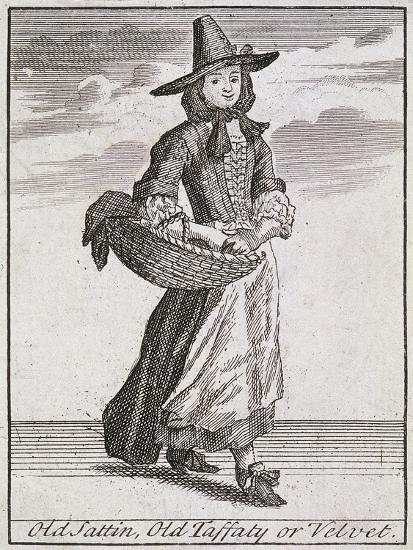 Old Sattin, Old Taffaty or Velvet, Cries of London-Marcellus Laroon-Giclee Print