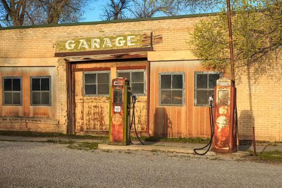 Old Service Station in Rural Utah, Usa.-Johnny Adolphson-Photographic Print