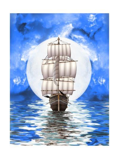 Old Ship-justdd-Art Print